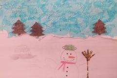 Andrea Pruglová Zimní koláž
